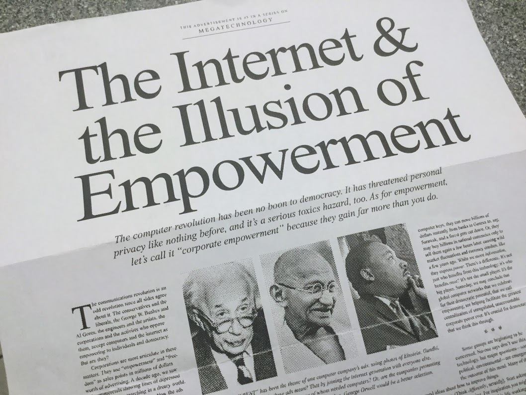 Photo of Original NY Times Advertisement